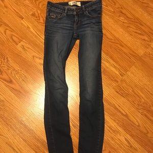 Skinny jeans dark wash